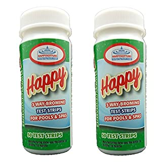 Happy Hot Tubs 3 Way Bromine Test Strips - Perfect for hot tubs and pools … (2 x 50)