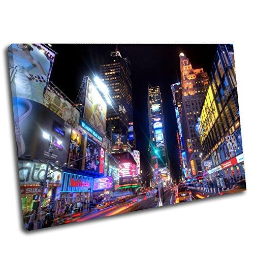 Canvas Culture Leinwandbild, Motiv: Stadtbild New York City Times Square 36x24 Original