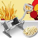 Acciaio inox patatine fritte cutter patata patata frutta e verdura con 4Lame