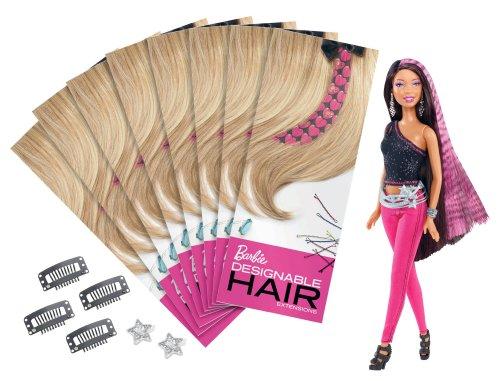 Barbie gestaltbare Hair Extensions African-American Puppe - X0428 (African American Erweiterungen)