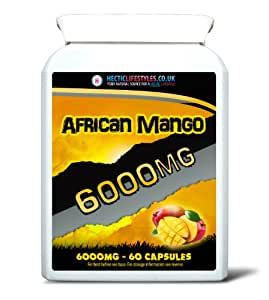 Hectic Lifestyles PURE SUPER AFRICAN MANGO 6000MG (60 Vegetarian friendly capsules)