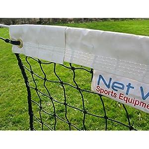 Vermont Tennisnetze für Einzel-Tennis 10m lang – eine Auswahl von Zwei (2,5mm Tennisnetz – 4,7kg)