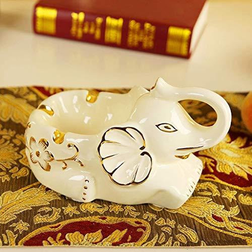 WMING Home Cenicero de cerámica Personalidad Creativa Sala de Estar Exquisito Hogar...