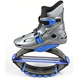 Bouncing Jumps Fitness Shoes Unisex Jumping Boots, Bounce, Outdoor, Sports, Skyrunner (BLUE) Size: 8-10 Adults
