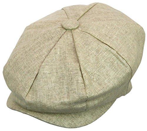 Epoch hats Herren Newsboy Leinen Applejack Gatsby Kollektion Ivy Hüte - Beige - Einheitsgröße