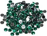 Pack of 1000 x Green Crystal Flat Back Rhinestone Diamante Gems 5mm