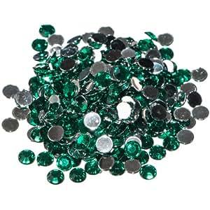 Pack of 1000 x Green Crystal Flat Back Rhinestone Diamante Gems 4mm
