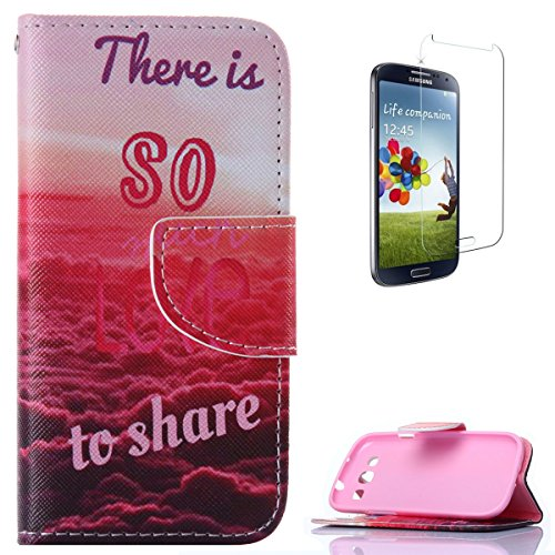 CaseHome Compatible for Samsung Galaxy S3 i9300 Mode Elegant PU-Leder Etui Stoßfest Anti-Rutsch PU-Leder Fall Abdeckung Schale Haut Kasten Magnetischer Flip Schutz Stoßstange -Red Sunset Glow