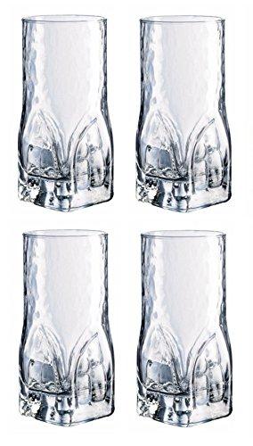 Durobor Set von 4Quarz Hiball-Gläser, 470ml 16,5Oz - 4 Hi-ball Gläser