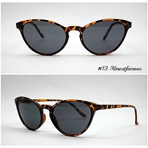 Keyhole Gatto Tartaruga/Nero VTG 50s/60s da donna, stile occhi di gatto occhiali da sole occhiali retrò Rockabilly Vintage Mondo Eye Wear