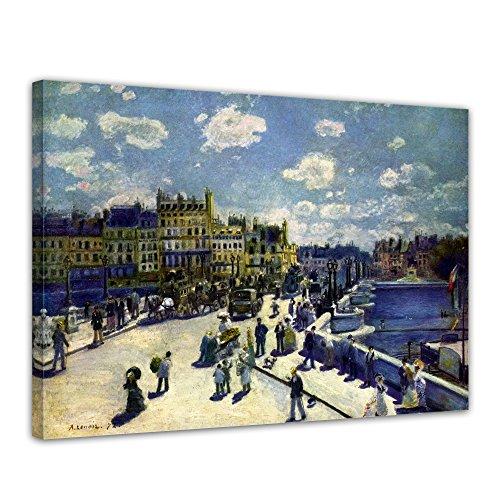 Wandbild Pierre-Auguste Renoir Pont -Neuf - 70x50cm quer - Alte Meister Berühmte Gemälde Leinwandbild Kunstdruck Bild auf Leinwand