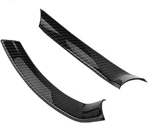 Keenso 2pcs Auto Lenkrad Abdeckung Trim Aufkleber Kohlefaser Lenkrad Dekorative Aufkleber Auto