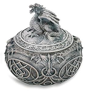 KATERINA PRESTIGE - Caja Redonda con diseño de dragón BROHF0658