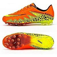 MaMaison007 Spike adulto unisex Sneaker formazione calcio scarpe uomo traspirante Soccer Boots-43 arancione rosso