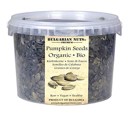 2 kg Rohe Bio-Kürbiskerne ohne Schale, gepflanzt, angebaut und im sonnigen Bulgarien geerntet