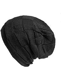 Kandharis Feinstrick Beanie warme Mütze sehr weichem Fleece Innenfutter Flecht Muster Unisex MT-18