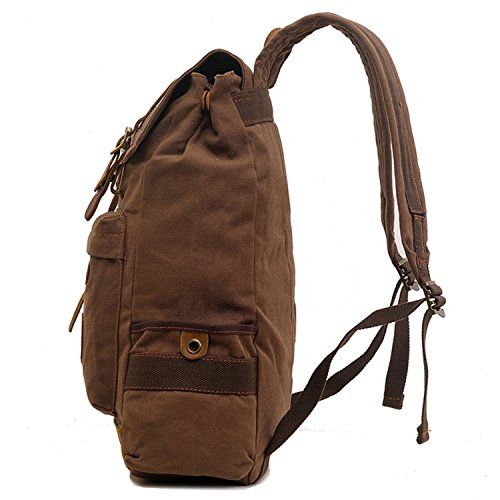 Koolehaoda Vintage Canvas Zaini/tasche zaino viaggi escursioni campeggio zaino zaino da escursionismo borsa da viaggio zaino per portatile borsa a tracolla zaino per la scuola per Outdoor Sports il te blu