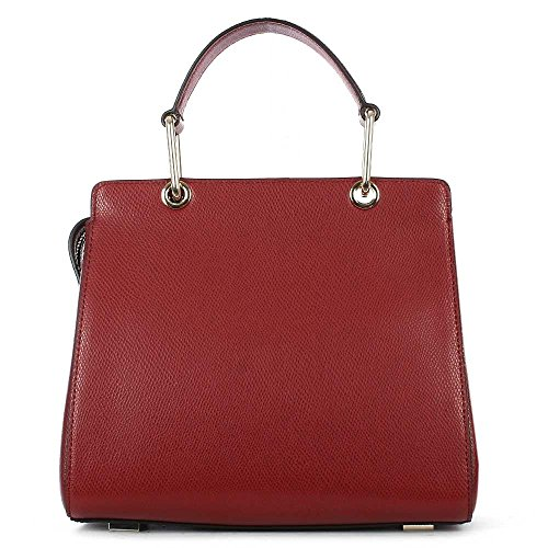 DKNY Bryant écarlate Cuir Petit Satchel Sac Red leather