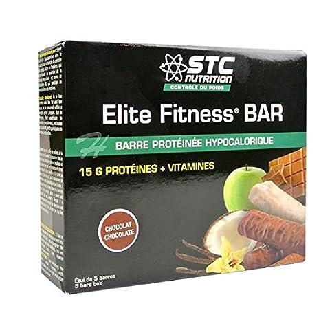 STC Nutrition Elite Fitness BAR 5 Barres - Goût : Chocolat