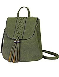 Sac à dos Femme,Sac à dos Bohemian Filles Broderie Soft PU pour voyager Shopping Dating Party Holiday