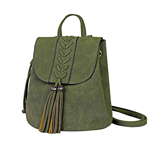 Zaino Donna Bohemian Mini Girls Backpack Ricamato Fashion PU morbido Zaini per Viaggiare Shopping Holiday Party Partito