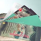 Einladungskarten Hochzeit drucken, Verliebt, verlobt 200 Karten, Kartenfächer 210x80 inkl. weißer Umschläge, Grün