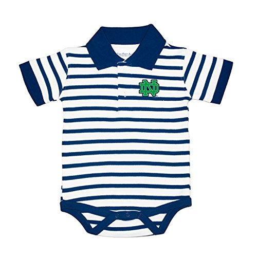 Two Feet Ahead Notre Dame Fighting Irish Striped NCAA College Newborn Infant Baby Creeper