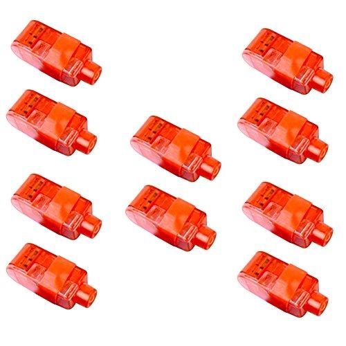 mAjglgE LED-Leuchtmittel für Kinder, für Tanz und Halloween, Weiß, 10 Stück rot