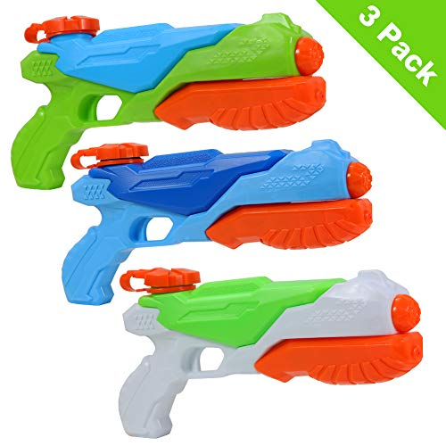 Twister.CK Wasserpistolen, 3er Pack Super Soaker Spritzpistole, Kinder Sommer Strand Spielzeug für Party und Outdoor Water Swimming Pool