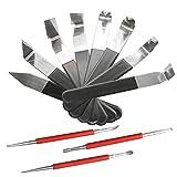 Juego de 11 herramientas de cerámica para tallar, moldear, escultura de arcilla y manualidades, diseño de arcilla, para tallar, moldear, escultura de arcilla, modelado