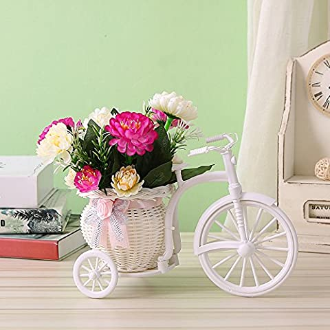 LUJIE The Living Room Decorative Flower Flower Car Decoration Indoor Flower Bouquet Of Flowers Placed On Holiday Lilac Rose Red Chrysanthemum Floats Chicken