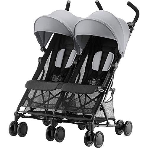 Britax Römer Zwillingskinderwagen, HOLIDAY DOUBLE Buggy, 6 Monate bis 3 Jahre (bis 15 kg Pro Sitz) Kinderwagen, steel grey