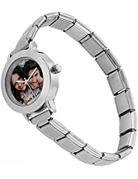 Personalizadas de las mujeres reloj de pulsera de acero inoxidable con tu foto y texto