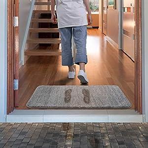Lifewit Fußmatte Schmutzfangmatte Sauberlaufmatte Eingangsbereiche Fußabtreter für Haustür innen und außen Waschbar