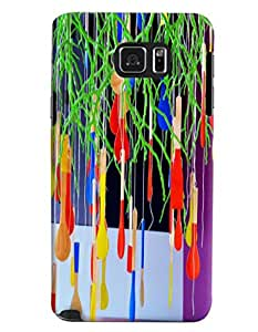 Blue Throat Pan Hanging Printed Designer Back Cover/ Case For Samsung Galaxy Note 5