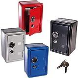 SAFE MONEY BOX BANK METAL 2 KEYS WITH COMBINATION LOCK COINS CASH SECURITY PIGGY
