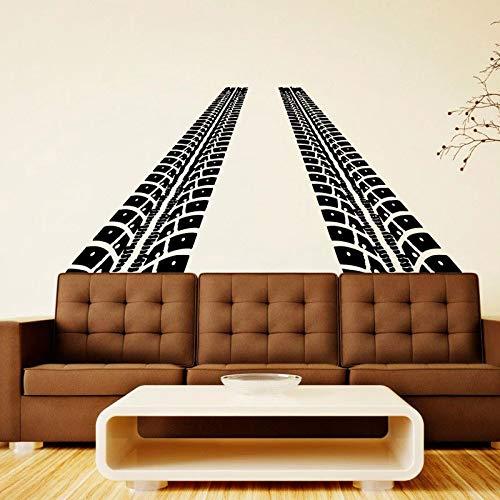 hllhpc Decalcomanie da Muro Strada con Tracce di Pneumatici Decalcomania del Vinile Art Home Playroom Decor Finestra Murale Decalcomanie Decor57 * 122 cm