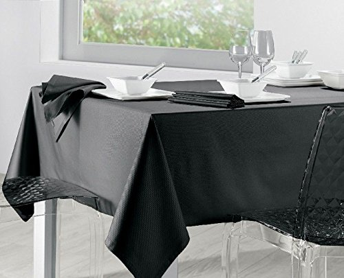 Winkler Nappe Unie Soft Noir 170x170