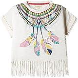 Nauti Nati Girls' Shirt (NSS16-823_Off-White_7Y)