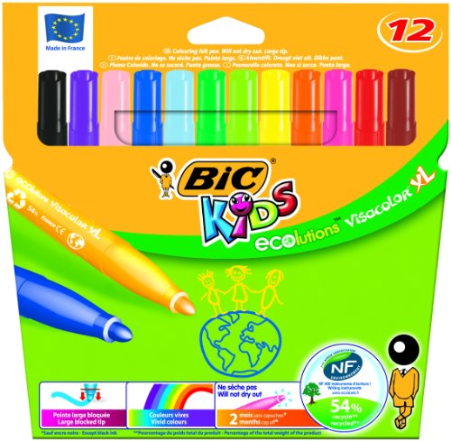 Evolución Bic Kids Visacolor XL – Rotuladores para colorear (48 piezas) _ Parent _ SPIG9