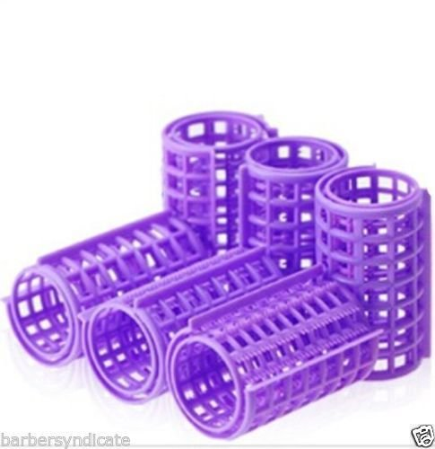 Homeoculture 6 pcs 36mm Plastic DIY Hairdressing Roller Curlers Clips for Woman (Color Mar vary)