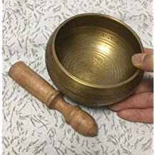 Mind zuivering Nieuwe 12cm Diameter Tibetaans boeddhistische geschriften gedessineerde Klankschaal + houten stok + mat Eenvoudig en praktisch