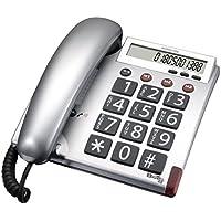 Audioline BigTel 48 Telefono a tasti grandi e display chiaro,