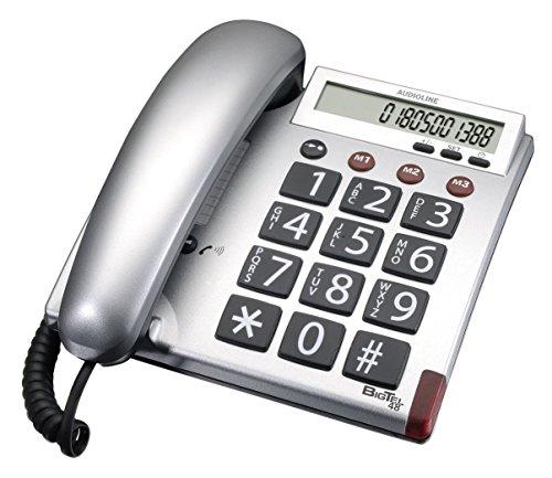 Audioline-BigTel-48-Telefon-groe-Tasten-und-augenfreundlichem-Display-silber