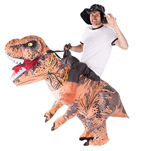 Einfach Barbar Kostüm - Bodysocks Inflatable Deluxe Dinosaur Riding Costume (Adult)