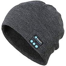 Sanzhileg Cappello Musicale Bluetooth Senza Fili Cuffie universali  Intelligenti Berretto a Maglia Caldo Invernale con Microfono 4384c1a9a7e0