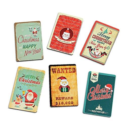 6er Set Magnet Merry Christmas Kühlschrankmagnet Magnetschild Schild Magnete