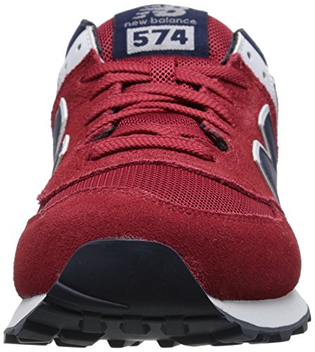 New Balance NBML574VBA Sneaker, Uomo Red/Navy D