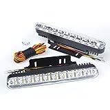 PolarLander 2pcs weiße 30 LED-Auto-Tagespositionslampe DRL Tageslicht-Lampe mit Umdrehungs-Röhrenblitz-Lichter Auto-Parken-fahrende Lampe