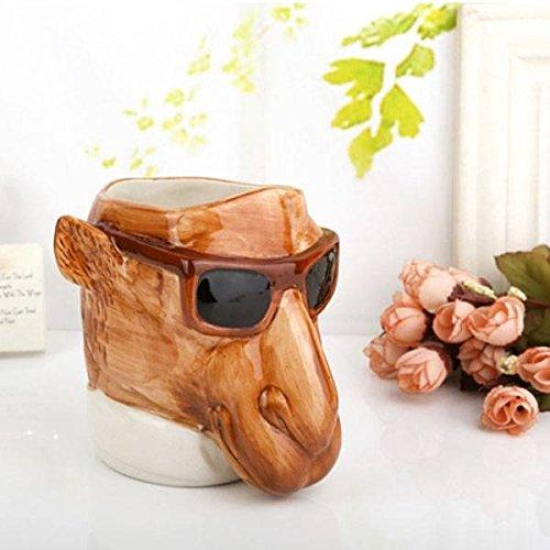 Calli Kreative 3D Keramik Tier Sunglass Pferdekaffeetasse Kaffeewasser Cup